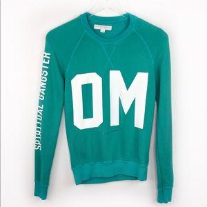 Spiritual Gangster OM Pullover Sweatshirt Top Teal